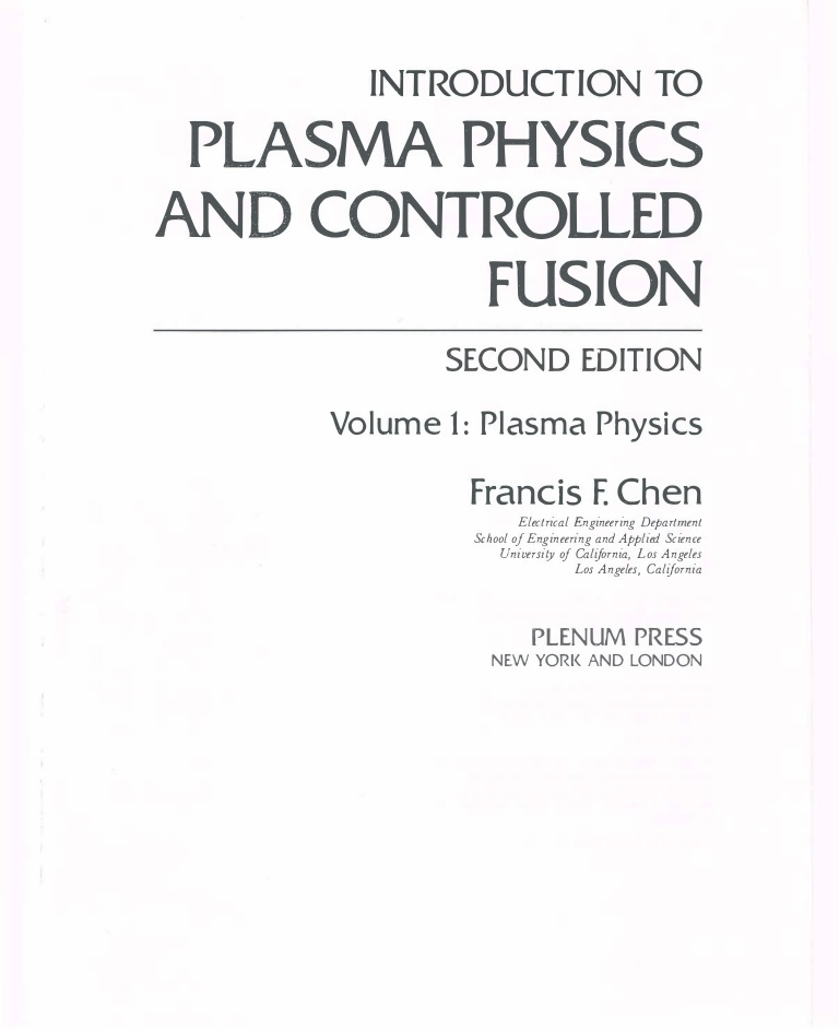 Plasma Physics [PH-5401]